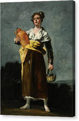 The Water Carrier  Canvas Print by Francisco Goya