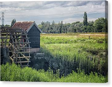 Water Scene Canvas Print - The Water Mill by Martin Newman