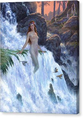 The Water Nymph Canvas Print by Richard Hescox