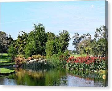 Canvas Print featuring the photograph The Water On Number One Santa Maria Country Club by Barbara Snyder