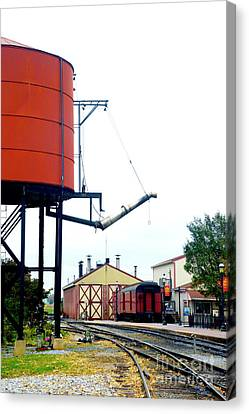 Canvas Print featuring the photograph The Water Tower by Paul W Faust - Impressions of Light