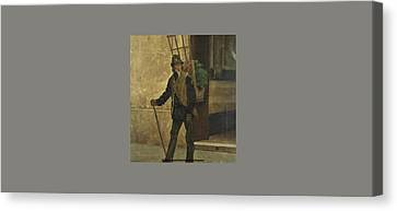 Watercress Canvas Print - The Watercress Seller by Pedro Lira