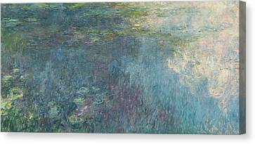The Waterlilies  The Clouds Canvas Print by Claude Monet