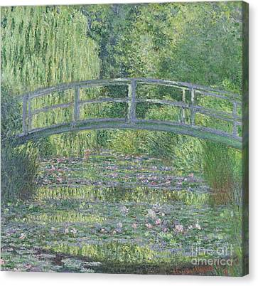 Waterlily Canvas Print - The Waterlily Pond by Claude Monet