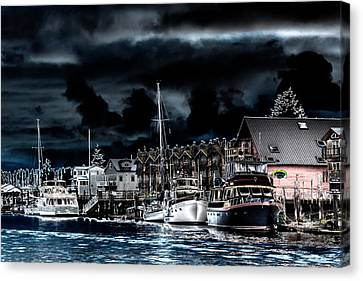 The Waterway In Laconner Washington Canvas Print by David Patterson