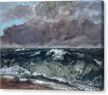 Seaside Heights Canvas Print - The Wave 1867  by Gustave Courbet