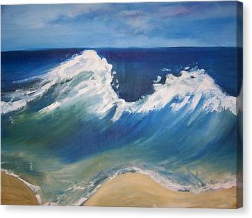 The Wave Canvas Print by Georgeanne Wayman