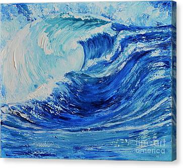 Canvas Print featuring the painting The Wave by Teresa Wegrzyn