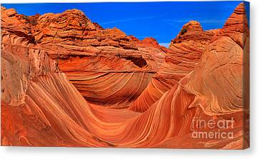The Wave Wide Panorama Canvas Print by Adam Jewell