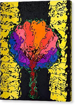 Abstract Digital Canvas Print - The Wavy Multicolor Tree by Irvlands Artfolio