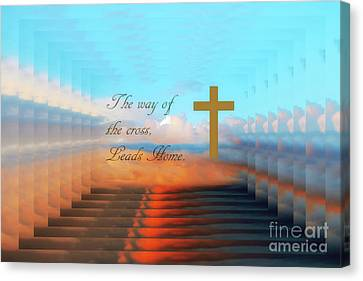 The Way Of The Cross Canvas Print by Geraldine DeBoer