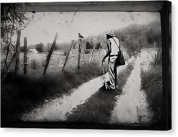 The Way Of The Crow Canvas Print by Gray  Artus