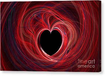 The Way To My Heart Canvas Print by Kaye Menner