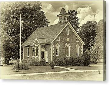 Country Schools Canvas Print - The Way We Were - One Room School House - Sepia by Steve Harrington