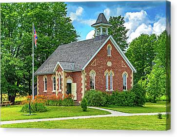 Country Schools Canvas Print - The Way We Were - One Room School House by Steve Harrington