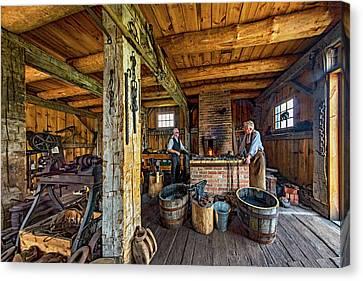 Antique Ironwork Canvas Print - The Way We Were - The Blacksmith 2 by Steve Harrington