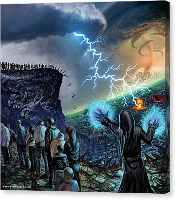 The Weak Shall Bring Us Down Canvas Print by Tony Koehl