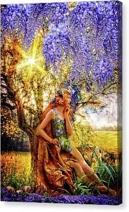 The Weather Sunshine Canvas Print by Debra and Dave Vanderlaan