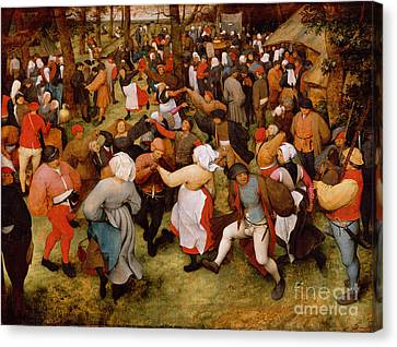 Dancer Canvas Print - The Wedding Dance by Pieter the Elder Bruegel