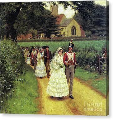 The Wedding March Canvas Print by Edmund Blair Leighton