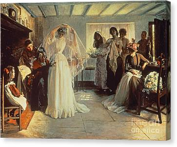 Oil On Canvas Print - The Wedding Morning by John Henry Frederick Bacon
