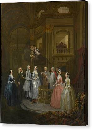 William And Mary Canvas Print - The Wedding Of Stephen Beckingham by MotionAge Designs