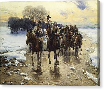 The Wedding Party Canvas Print by Alfred Kowalski