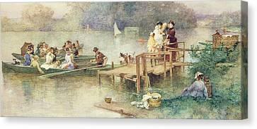 The Wedding Party Canvas Print by Ferdinand Heilbuth