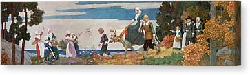 Colonial Man Canvas Print - The Wedding Procession by Newell Convers Wyeth