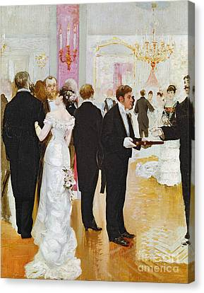 Husband Canvas Print - The Wedding Reception by Jean Beraud