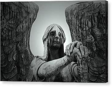 Headstones Canvas Print - The Weeping Angel by Brian M Lumley