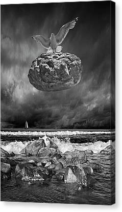 Canvas Print featuring the photograph The Weight Is Lifted by Randall Nyhof