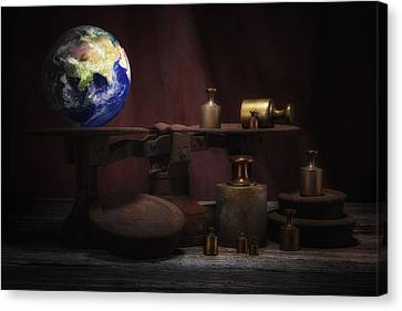 Frustration Canvas Print - The Weight Of The World by Tom Mc Nemar