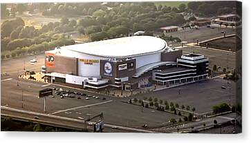 The Wells Fargo Center Canvas Print by Bill Cannon
