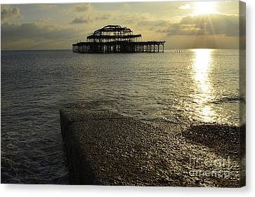 The West Pier Canvas Print by Nichola Denny