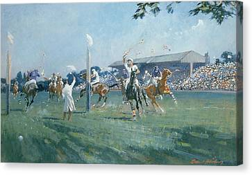 Referee Canvas Print - The Westchester Cup by Gilbert Holiday