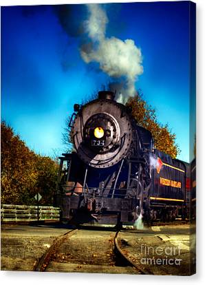 The Western Maryland 734 Canvas Print by Steven Digman