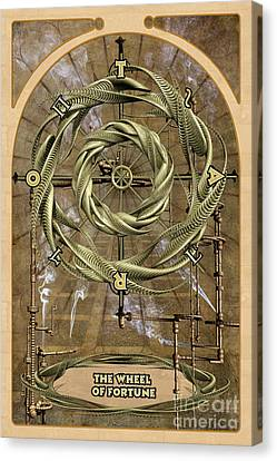 The Wheel Of Fortune Canvas Print by John Edwards