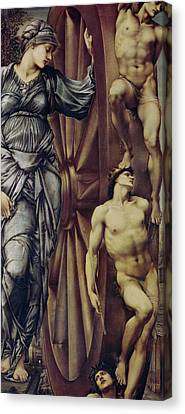 The Wheel Of Fortune Canvas Print by Sir Edward Burne Jones