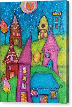 Canvas Print - The Whimsical Village - 2 by Barbara Orenya