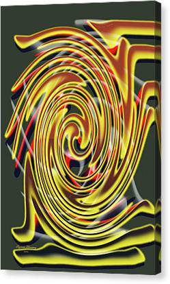 The Whirl Of Life, W5.2c Canvas Print by Ayman Alenany