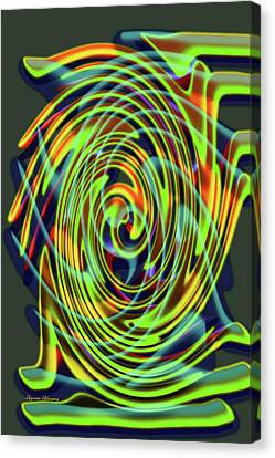 The Whirl Of Life, W5.2d Canvas Print by Ayman Alenany