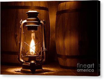 Artisan Canvas Print - The Whiskey Reserve - Sepia by Olivier Le Queinec