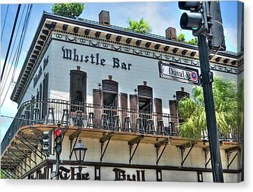 The Whistle Bar On Duval Street - Key West, Florida Canvas Print