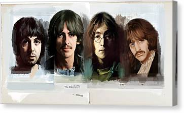 The White Album  The Beatles  Canvas Print by Iconic Images Art Gallery David Pucciarelli