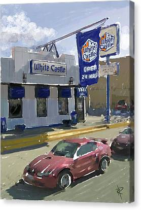 Hamburger Canvas Print - The White Castle by Russell Pierce
