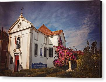 The White Church Of Santa Luzia Canvas Print