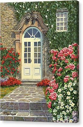The White Door Canvas Print by Richard De Wolfe