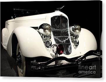The White Duesenberg Canvas Print by Wingsdomain Art and Photography