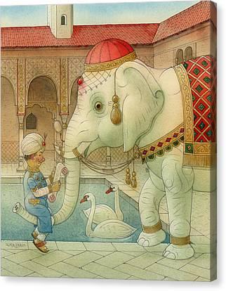 The White Elephant 07 Canvas Print by Kestutis Kasparavicius